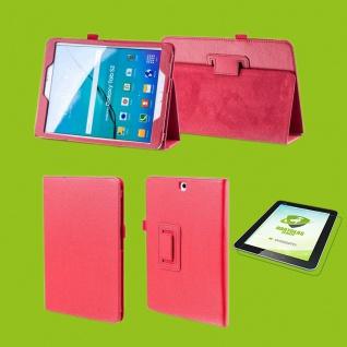 Für Samsung Galaxy Tab S5e 10.5 T720F Rot Etuis Tasche Kunst Leder + H9 Glas Neu