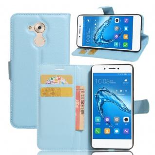 Tasche Wallet Premium Blau für Huawei Honor 6C Hülle Case Cover Etui Schutz Neu