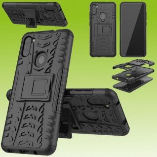 Für Samsung Galaxy M11 M115F Hybrid Case Outdoor Schwarz Handy Tasche Etuis Hülle