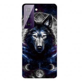 Für Samsung Galaxy S21 Plus Silikon TPU Magic Wolf Handy Hülle