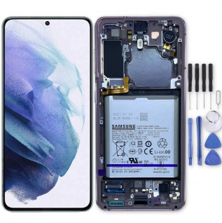 Samsung Display LCD Kompletteinheit für Galaxy S21 G991B GH82-24716D Pink Ersatz