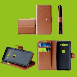 Für Samsung Galaxy S10 Plus G975F 6.4 Tasche Wallet Kunst-Leder Braun Hülle Etui
