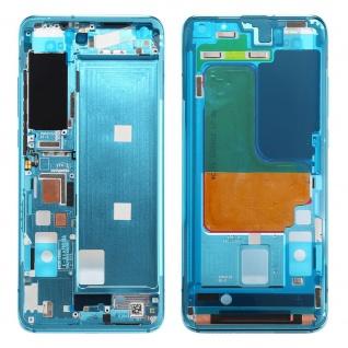 Gehäuse Rahmen Mittelrahmen kompatibel für Xiaomi Mi 10 5G Blau Ersatz Reparatur