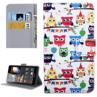 Schutzhülle Muster 56 für Huawei P9 Bookcover Tasche Case Hülle Wallet Etui Neu