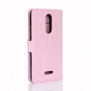Tasche Wallet Premium Rosa für Wiko Upulse Lite Hülle Case Cover Etui Schutz Neu - Vorschau 3