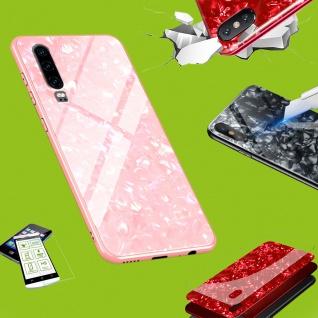 Für Apple iPhone XR 6.1 Zoll Color Effekt Pink Tasche Hülle Etuis + Hart Glas