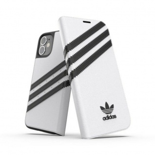 Adidas OR Bookcover Tasche für Apple iPhone 12 Mini Weiß Hülle Case Cover