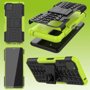 Für Samsung Galaxy A22 5G Hybrid Case Outdoor Grün Handy Tasche Etuis Hülle Neu