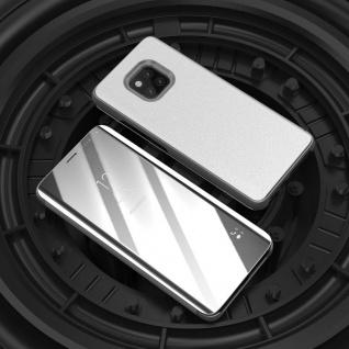 Für Xiaomi Redmi Note 6 Pro Clear View Smart Cover Silber Tasche Hülle Wake UP