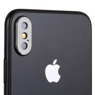 Kamera Cam Schutz Protection Ring für Apple iPhone XS 5.8 Zoll Silber 2Pcs