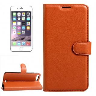 Schutzhülle Braun für Apple iPhone 8 Plus 7 Plus 5.5 Bookcover Tasche Case Neu