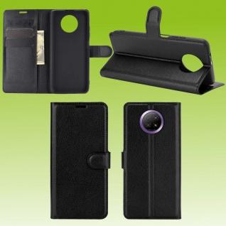 Für Xiaomi Redmi Note 9T 5G Handy Tasche Schwarz Etuis Kunst-Leder Cover Hülle