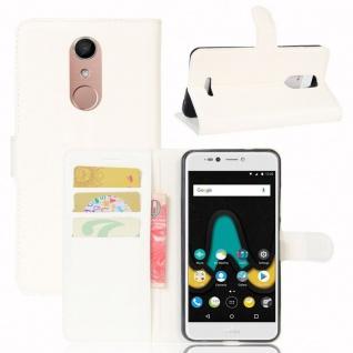 Tasche Wallet Premium Weiß für Wiko Upulse Lite Hülle Case Cover Etui Schutz Neu