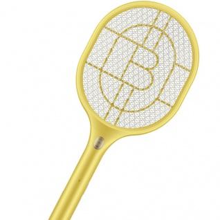 Elektrische Fliegen Klatsche Gelb Anti Mücken LED Lampe USB Anschluss Zubehör