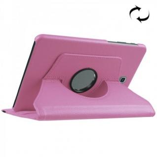 Schutzhülle 360 Grad Rosa Tasche für Samsung Galaxy Tab S2 8.0 SM T710 T715N Neu