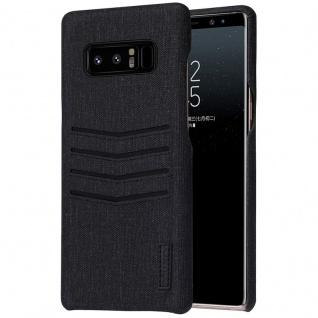 Edles Business Cover Kartenfächer für Samsung Galaxy Note 8 Schutzhülle Schwarz