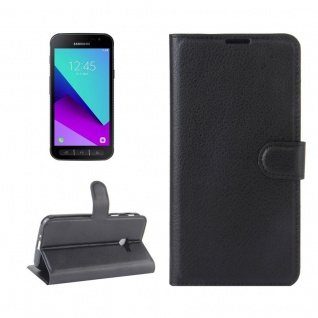 Tasche Wallet Premium Schwarz für Samsung Galaxy Xcover 4 G390F Hülle Case Cover