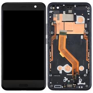 Für HTC U11 Reparatur Display LCD Komplett Einheit mit Rahmen Touch Schwarz Neu