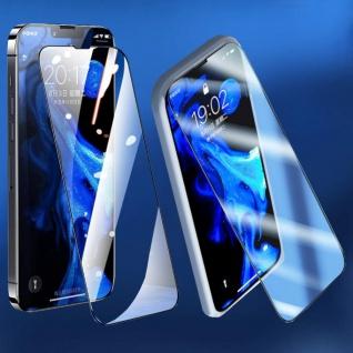Für Apple iPhone 13 Pro Max 2x 4D Display Full H9 Curved Glas Schwarz Panzer Neu