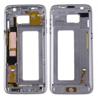 Gehäuse Rahmen Deckel kompatibel Samsung Galaxy S7 Edge G935 G935F Kleber Grau