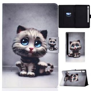 Für Samsung Galaxy Tab S7 2020 Motiv 59 Tablet Tasche Kunst Leder Hülle Etuis