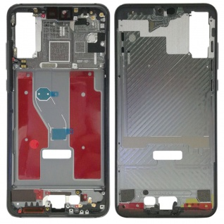 Gehäuse Rahmen Mittelrahmen Deckel für Huawei P20 Pro Grau Reparatur Ersatz Neu