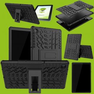 Für Lenovo Tab M10 Plus X606F Hybrid Etuis Schwarz Hülle Tablet Tasche + H9 Glas