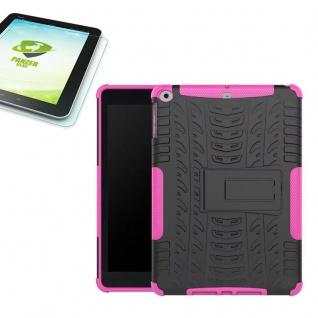 Hybrid Outdoor Hülle Pink für Apple iPad 9.7 2017 Tasche + H9 Panzerglas Case