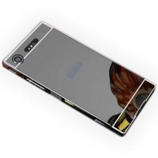 Alu Bumper 2teilig Abdeckung Schwarz für Sony Xperia XZ1 Compact Tasche Case Neu