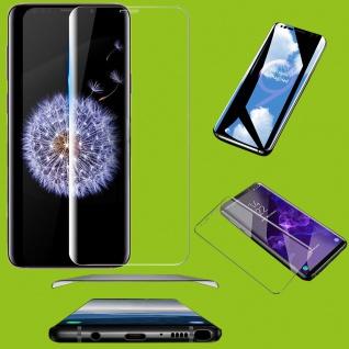 2x 4D Full H9 Curved Hartglas Transparent Folie für Samsung Galaxy S10 Plus G975