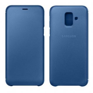 Samsung Wallet Cover Hülle EF-WA605CLEGWW Galaxy A6 Plus 2018 A605F Tasche Blau