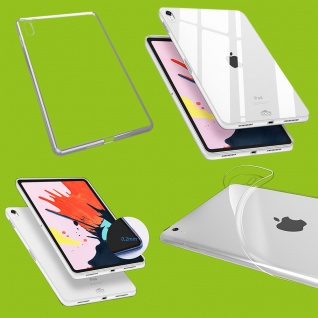 Für Apple iPad Pro 12.9 Zoll 2018 Transparent Tasche Hülle Case TPU Silikon dünn