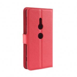 Tasche Wallet Premium Rot für Sony Xperia XZ2 Hülle Case Cover Schutz Etui Neu - Vorschau 3