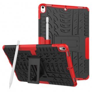 Hybrid Outdoor Schutzhülle Cover Rot für Apple iPad Pro 10.5 2017 Tasche Case