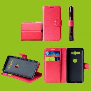 Für Samsung Galaxy A50 6.4 Zoll Tasche Wallet Premium Rot Hülle Etuis Cover Neu