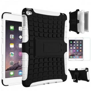 Hybrid Outdoor Schutzhülle Weiß für iPad Mini 4 Tasche + 0.3 H9 Panzerglas Case