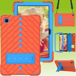 Für Samsung Galaxy Tab A7 2020 Shockproof Hybrid Hülle Band Orange / Blau
