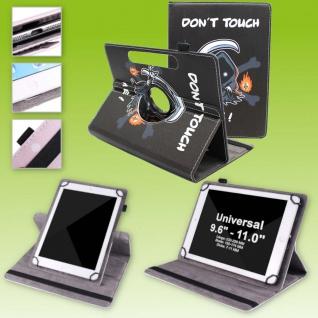 Für Huawei MatePad T10 / T10s 360 Grad Motiv 17 Tablet Tasche Kunst Leder Etuis