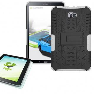 Hybrid Outdoor Tasche Weiß für Samsung Galaxy Tab A 10.1 T580 + 0.4 Hartglas