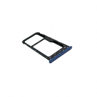 Für Huawei P Smart Reparatur Karten Halter Sim Tray Schlitten Holder Blau Ersatz