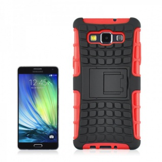 Hybrid Case 2 teilig Robot Rot Cover Hülle für Samsung Galaxy A5 A500 A500F Neu