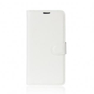 Tasche Wallet Premium Weiß für Wiko Sunny 2 Plus Hülle Case Cover Etui Schutz - Vorschau 2