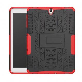 Hybrid Outdoor Schutzhülle Rot für Samsung Galaxy Tab S3 9.7 T820 T825 Tasche