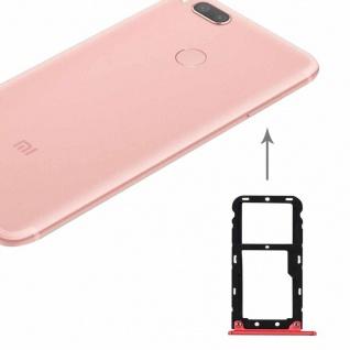 Für Xiaomi Mi 5X Sim Karten Halter Sim Tray Sim / TF Schlitten Holder Rot Neu