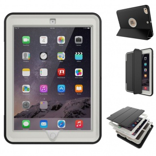 Hybrid Outdoor Schutzhülle Cover Grau für Apple iPad Pro 12.9 Tasche Case Etui