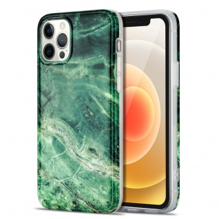 Für Apple iPhone 12 Mini Muster Silikon TPU Handy Tasche Hülle Grün