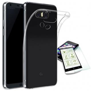 Silikoncase Transparent Tasche + H9 Panzerglas für LG G6 H870 Hülle Cover Schutz