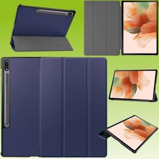 Für Samsung Galaxy Tab S7 Plus / S7 FE Smart Cover Blau Tablet Tasche Etuis Case