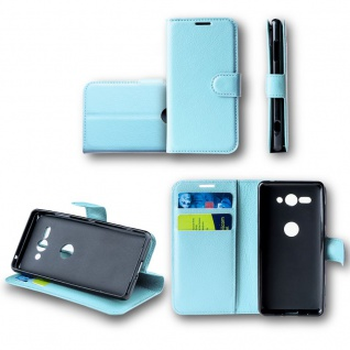 Für Nokia 6 2018 Tasche Wallet Premium Hellblau Hülle Case Cover Schutz Etui Neu
