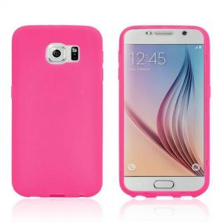 Design Cover mit Frontabdeckung Pink für Samsung Galaxy S6 G920 G920F Tasche Neu